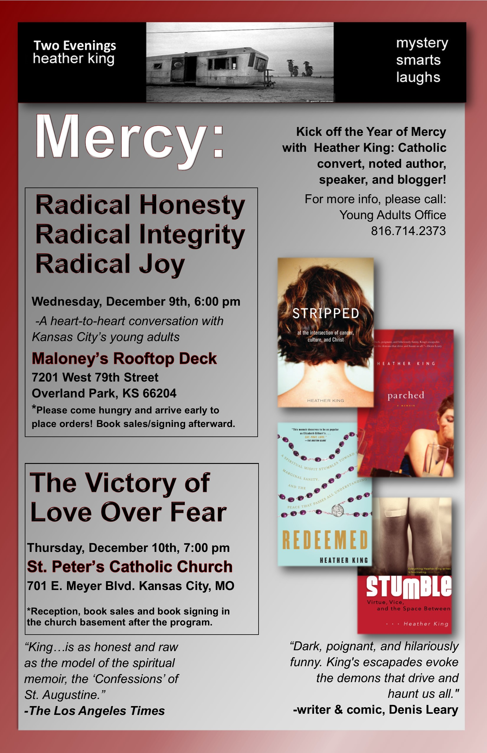 Heather King coming to St. Peter's Parish December 10, 2015