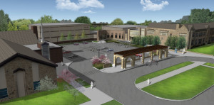 Legacy Center Parking Lot Rendering-Daytime