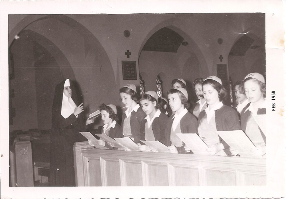 Girls in Choirin 1958